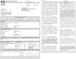 Courrier arnaque répertoire des sociétés et des indépendants RSI
